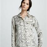 Equipment Python-Print Blouse, Fawn  106806