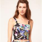 Club L Tropical Print Crop Bralet 105574