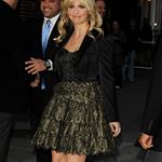 Sarah Michelle Gellar arrives at The Late Show with David Letterman 98066